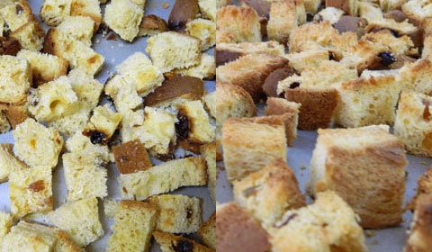 Cubed panettone