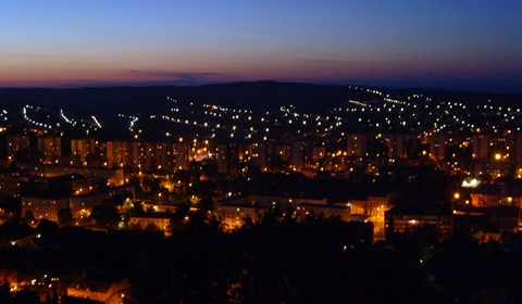 Miskolc City at night