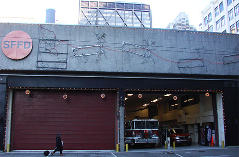 San Francisco Fire Dept. Christmas decorations