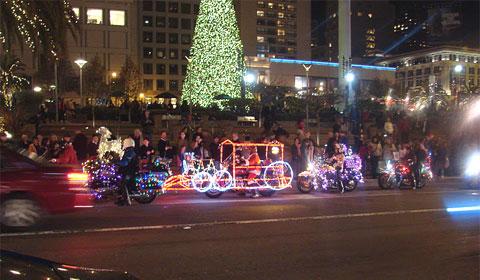 Harley Davidson Christmas convoy