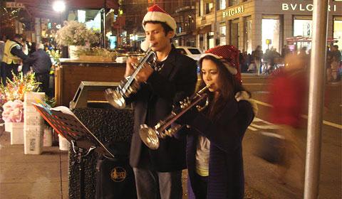 Street performers in San Francisco