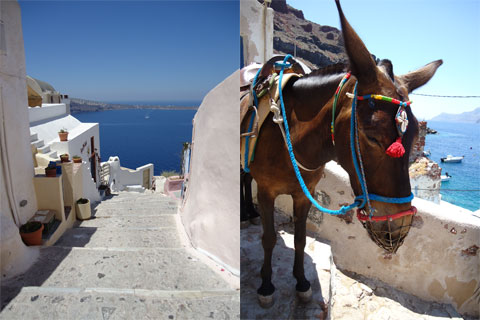Santorini transportation