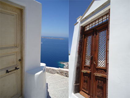 Santorini doorways