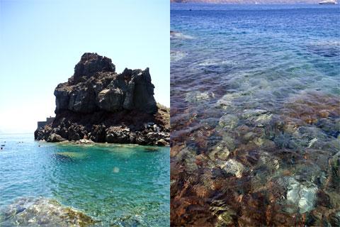 Swimming on Santorini