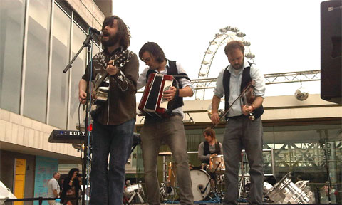 The Lucky Strikes performing at Southbank Center for Seaside Weekend