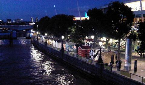 The Southbank at night