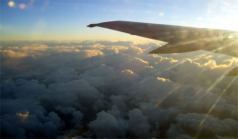 View from my plane window