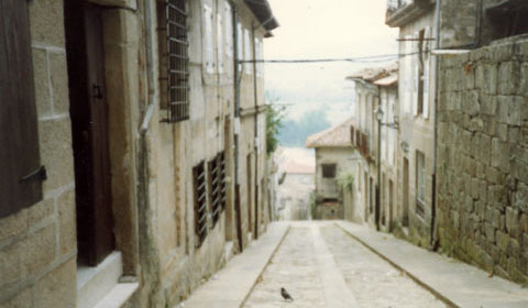 A typical street in old Santiago