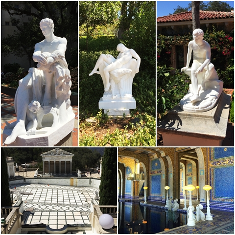 Statues and pools