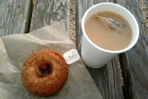 Tea and donuts taste so much better at the beach! | Steamer Lane, Santa Cruz | milliverstravels.com