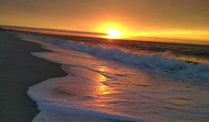 Sunset on the coast of Alabama