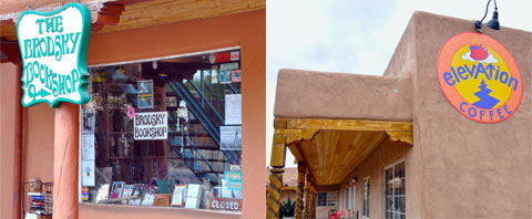 Taos bookstore and coffeehouse
