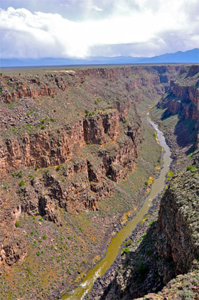 Taos - the view from Gorge Bridge