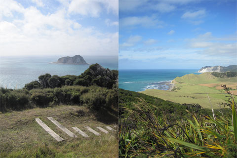 View from East Cape Lighthouse, New Zealand