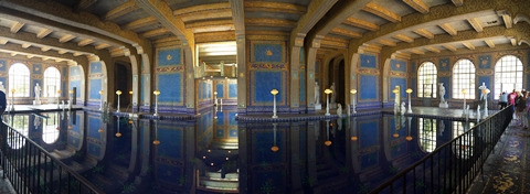 180° view of the Roman Pool