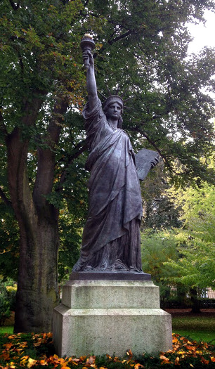 The Statue of Liberty in Jardin du Luxembourg