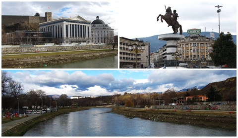The city of Skopje is still beautiful, too