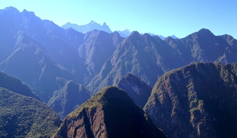 The view from the top of Huayna Picchu.