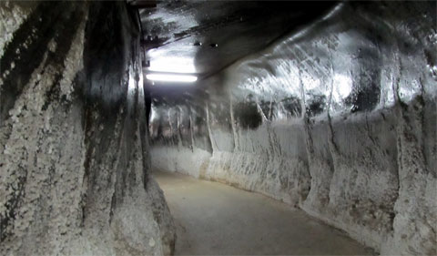 Walk half a kilometer through this amazing salt tunnel