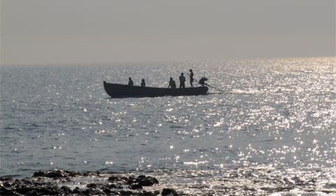 Fishermen on the Bay of Bengal