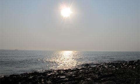 Beach sunrise, Bay of Bengal