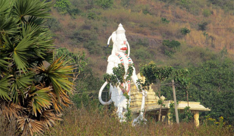Temple on the beach at Vizag