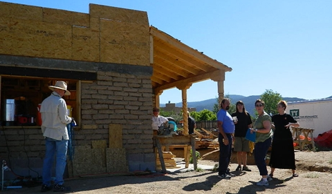 Volunteers assembling for the first day of Build Taos