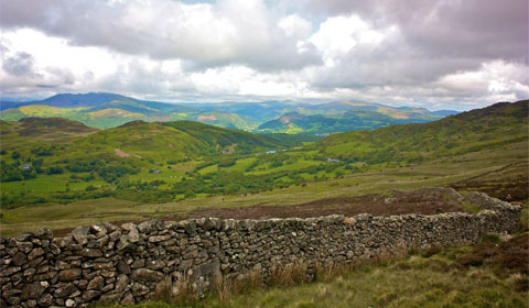 A stone wall on Cadair Idris