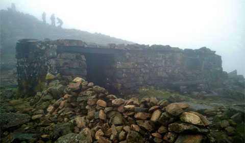 The shelter at the top of Cadair Idris