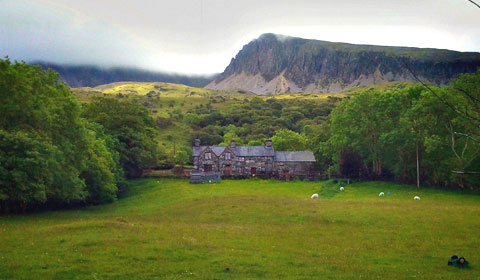 A farmhouse in the shadow of Cadair Idris