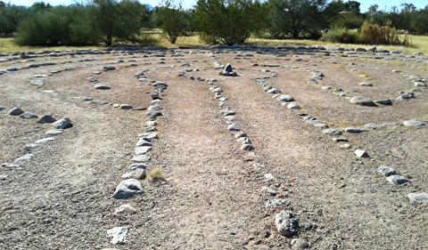 Entering the labyrinth, Rio Vista Park, Tucson, Arizona