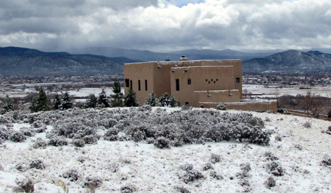 Adobe house in Taos, New Mexico