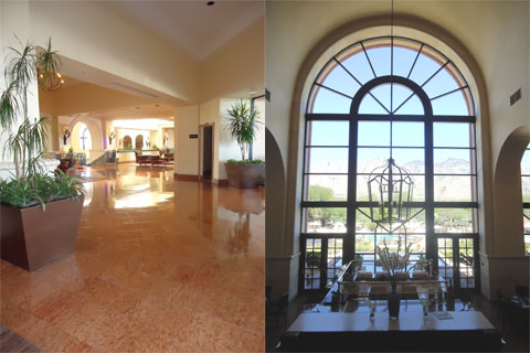 The lobby, Westin La Paloma