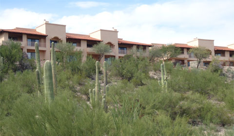 Westin La Paloma overlooking the desert