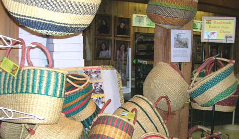 Handmade baskets from Ghana