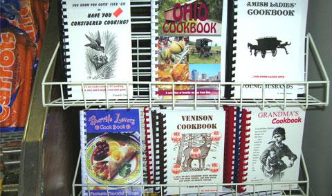 Reading cookbook titles