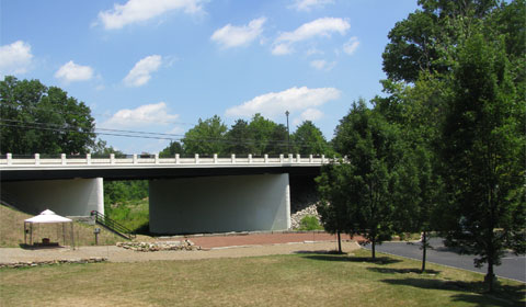 The bridge over Yellow Creek on Rte 224, Poland, Ohio