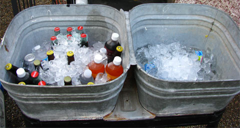 Grab an old-fashioned soda from the ice bucket