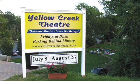 Yellow Creek Theatre sign
