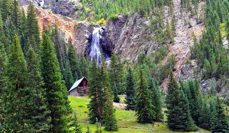 An original log home just outside Animas Forks  heading back into Silverton, Colorado