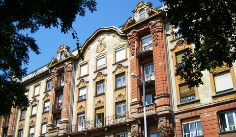 The architecture is really beautiful throughout Debrecen.