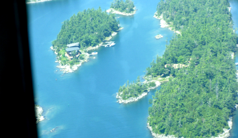 Float plane and boat for house on an island