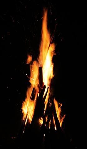 A few minutes of bonfire