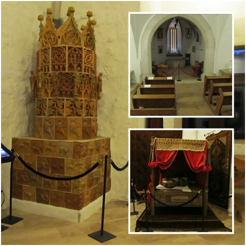 Saint Hedvig's Chapel, the Queen's Dormitory, and the most impressive furnace I have ever seen