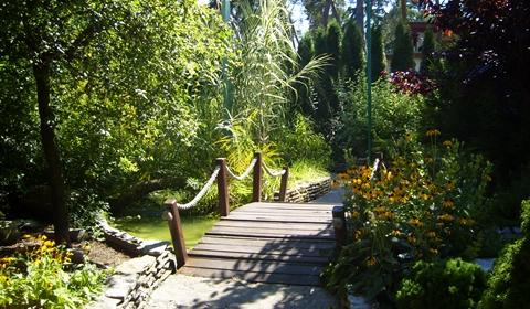 Beautiful pathways to walk through the zoo!