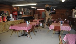 The dining room of the Chuckwagon Cafe