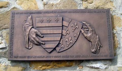 King Louis the Great in Diósgyőr grants the city of Košice the first city in Europe to be honoured, thus its own coat of arms, 7th May 1369