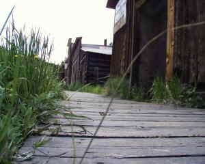 original wooden sidewalk