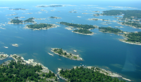 Part view of 30,000 Islands