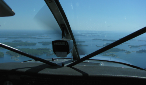 Pilots view of 30,000 Islands